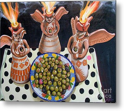 Angles De Tapas Metal Print by Shelley Laffal