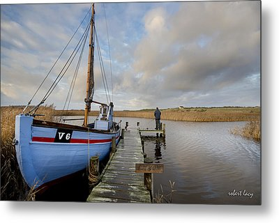 Angling For Dinner Metal Print by Robert Lacy