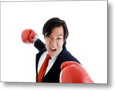 Angry Business Man Metal Print by Jim Pruitt