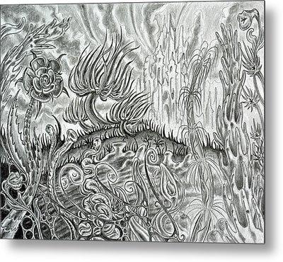 Angst Ridden Metal Print by Steven Bales