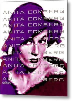 Anita Eckberg In Wine Metal Print by Seth Weaver