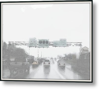 Another Rainy Day Metal Print by Angelia Hodges Clay