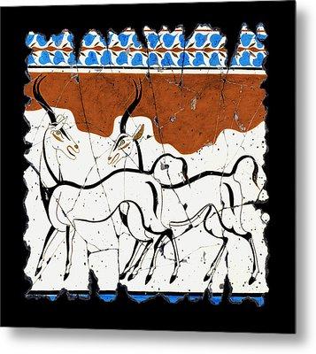 Antelope Of Akrotiri Metal Print by Steve Bogdanoff