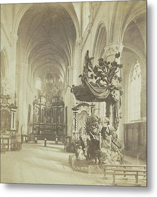 Antwerp, Church Of Saint-andre, Indoor General View Metal Print by Artokoloro