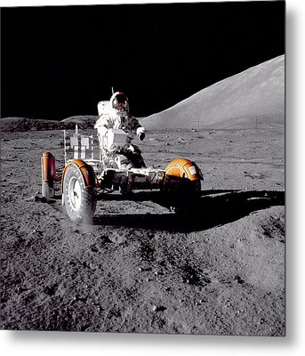 Apollo 17 Moon Rover Ride Metal Print by Movie Poster Prints