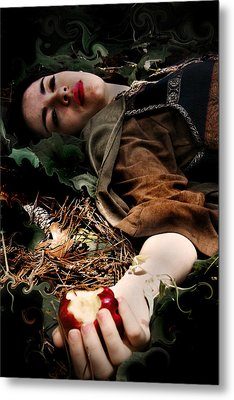 Apple Of Death Metal Print by Cherie Haines