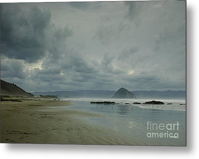 Approaching Storm - Morro Rock Metal Print
