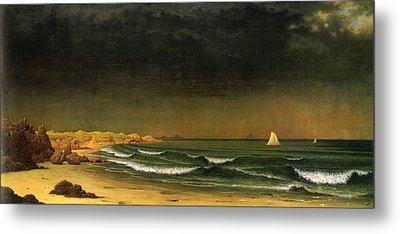 Approaching Storm Near Newport Beach Metal Print by Martin Heade