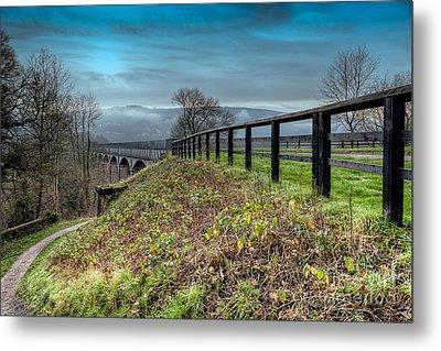 Aqueduct At Pontcysyllte Metal Print by Adrian Evans