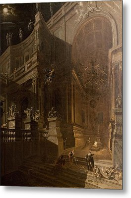 Architectural Fantasy With Figures Metal Print by Stefano Orlandi
