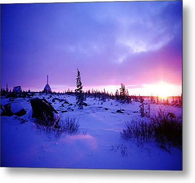 Arctic Sunset In Churchill Canada Metal Print