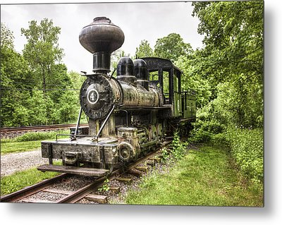 Argent Lumber Company Engine No. 4 - Antique Steam Locomotive Metal Print by Gary Heller