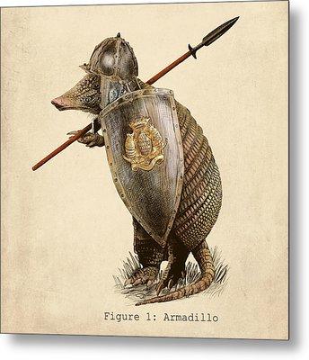 Armadillo Metal Print