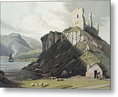 Arros Castle, Isle Of Mull Metal Print by William Daniell