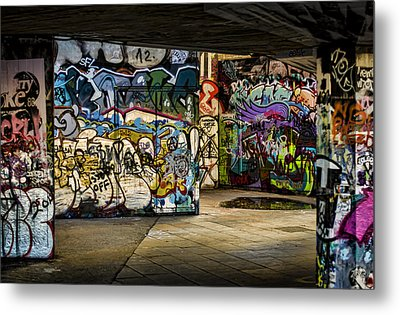 Art Of The Underground Metal Print by Heather Applegate