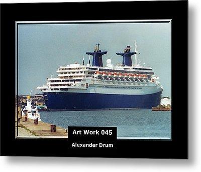 Art Work 045 Passenger Ship Metal Print