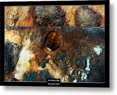 Art Work 206 Ship Rust Metal Print by Alexander Drum