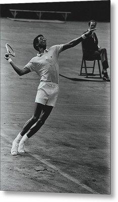 Arthur Ashe Playing Tennis Metal Print