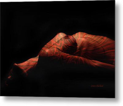 Artistic Crucifiction Metal Print by Donna Blackhall