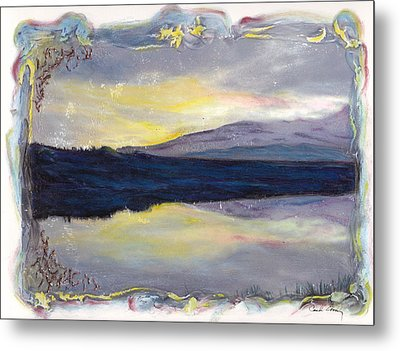Metal Print featuring the mixed media As Above So Below by Carla Woody