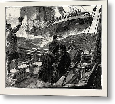 As The Clipper Stormed Metal Print
