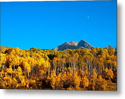 Metal Print featuring the photograph Aspen Moon by Eric Rundle