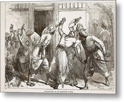 Assassination Of Sir Alexander Burnes Metal Print