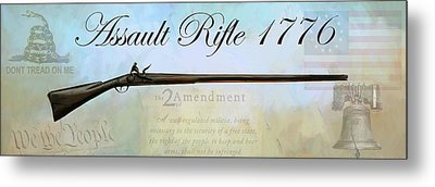 Assault Rifle Metal Print by GCannon