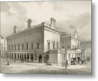 Assembly Rooms, Bath, Circa 1883 Metal Print by R Woodroffe