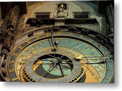 Astronomical Clock Metal Print by Sergey Simanovsky
