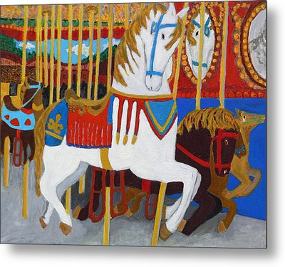 At The Fair Metal Print by Mary M Collins