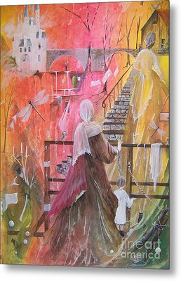 At The Top Of The Stairs Metal Print