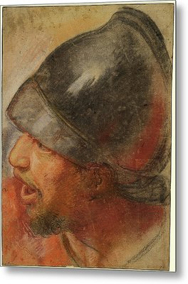 Atelier Assistant Of Charles Le Brun, Head Of A Macedonian Metal Print