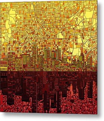 Atlanta Skyline Abstract 3 Metal Print