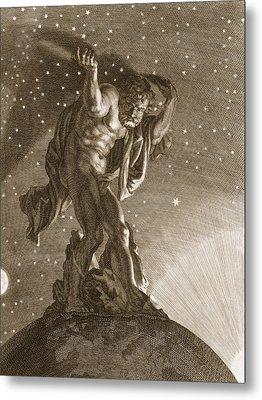 Atlas Supports The Heavens Metal Print by Bernard Picart