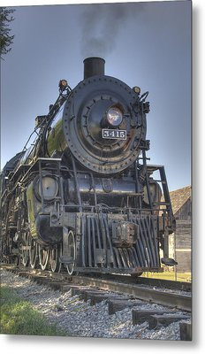 Atsf 3415 Head On Metal Print by Shelly Gunderson