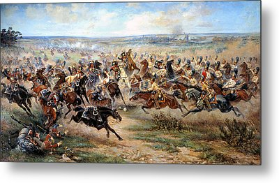 Attack Of The Horse Regiment Metal Print by Victor Mazurovsky