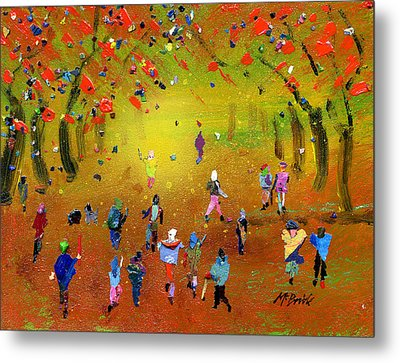 Autumn Amble Metal Print