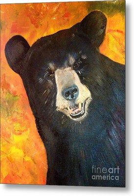 Autumn Bear Metal Print by Jan Dappen