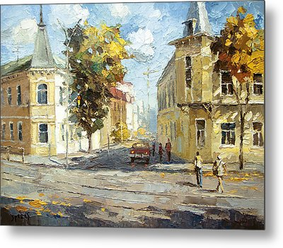 Metal Print featuring the painting Autumn Day by Dmitry Spiros
