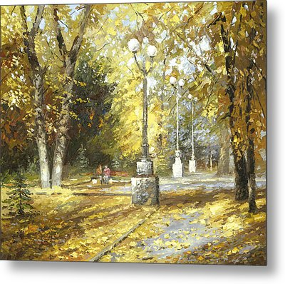 Metal Print featuring the painting Autumn by Dmitry Spiros