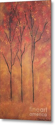Metal Print featuring the painting Autumn Fire by Christie Minalga