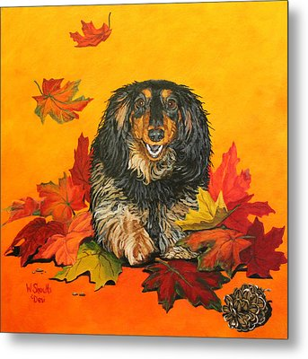 Metal Print featuring the painting Autumn Fun by Wendy Shoults
