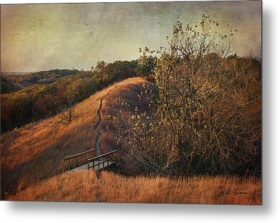 Autumn In The Loess Hills Metal Print by Jeff Swanson