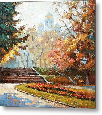 Metal Print featuring the painting Autumn Midday by Dmitry Spiros
