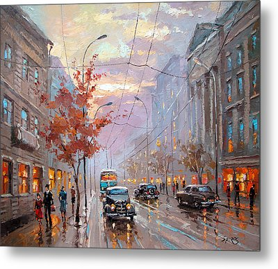 Metal Print featuring the painting Autumn Rhapsody by Dmitry Spiros