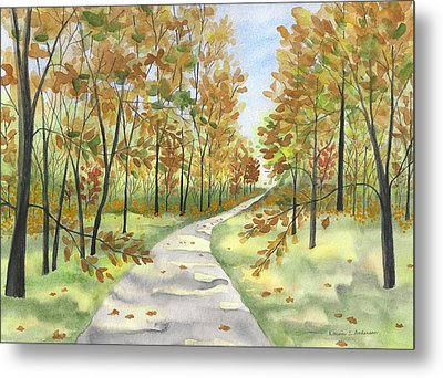 Autumn Trail Metal Print