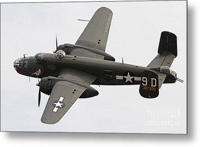 B-25 Mitchell Bomber Aircraft Metal Print