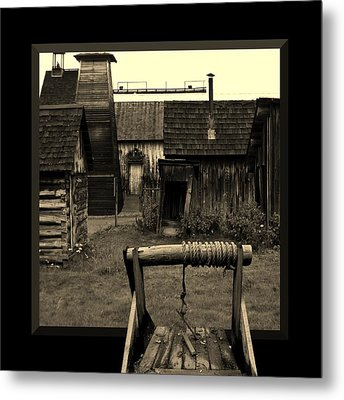Back Yard Gold Mine Metal Print by Barbara St Jean