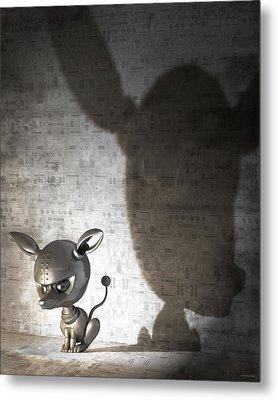 Bad Dog Metal Print by Vanessa Bates